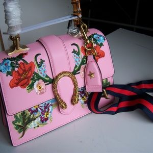 Gucci Pink Dionysus Bag Italy Pink Leather Bamboo